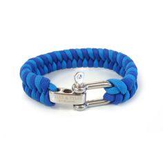 Bracelet, tissé Tyler and Tyler Zig zag Bleu et Bleu ciel Tyler & Tyler Bracelets Homme
