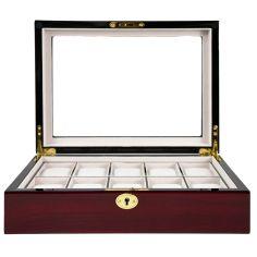 Ecrin Luxe bois 10 montres, Kennett, Cerisier mat Kennett Ecrins