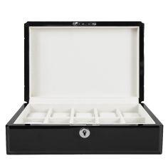 Ecrin Luxe bois 10 montres, Kennett, couleur noir laqué Kennett Ecrins