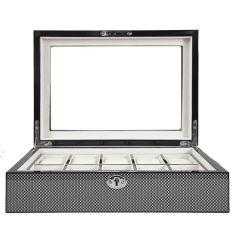 Ecrin Luxe bois plaqué fibre de carbon, 10 montres, Kennett, brillant