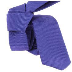 Cravate soie Segni Disegni CLASSIC, Slim violet
