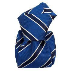 Cravate Classique Segni Disegni, Mogador- Savone Bleu