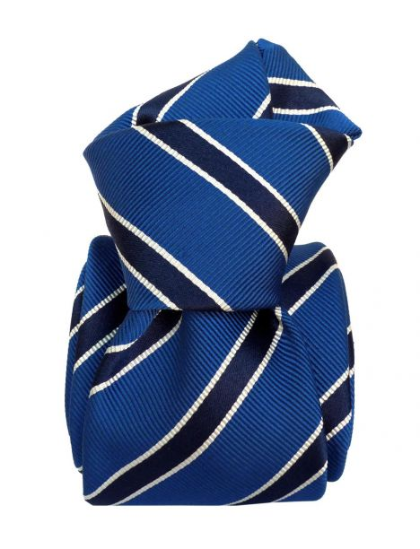 Cravate Classique Segni Disegni, Mogador- Savone Bleu Segni et Disegni Cravates