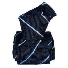 Cravate grenadine de soie, Segni & Disegni, Trévise bleu