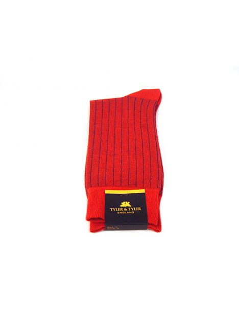 Chaussettes T&T, Pinstripe Blue Red
