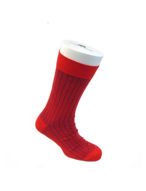 Chaussettes T&T, Pinstripe Blue Red Tyler & Tyler Chaussettes
