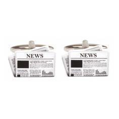 Bouton de Manchette, Journal News Cravate Avenue Signature Bouton de manchette