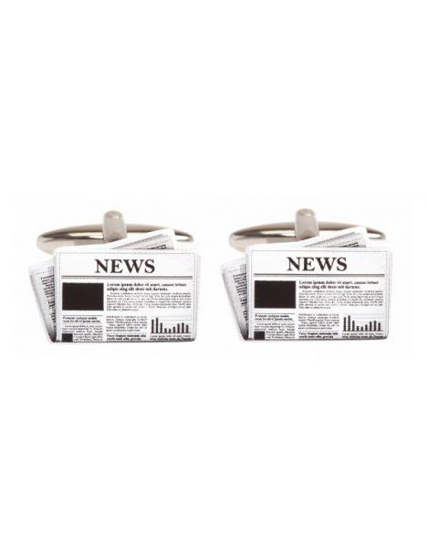 Boutons de manchette, Journal News Cravate Avenue Signature Bouton de manchette