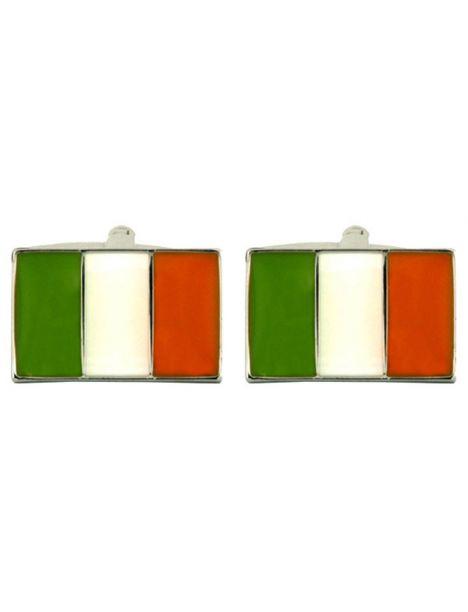bouton de manchette drapeaux irlandais cravate avenue. Black Bedroom Furniture Sets. Home Design Ideas