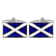 Bouton de Manchette, Drapeaux Scotland Cravate Avenue Signature Bouton de manchette