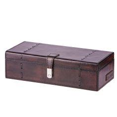 Coffret rangement 3 montres Luxe Edward, cuir de buffle Marron foncé Balmuir Ecrins