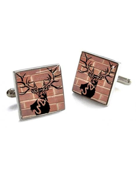 Bouton de manchette Tyler & Tyler, Stag head, Red Bricks Tyler & Tyler Bouton de manchette