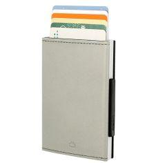 Porte carte Aluminium et cuir,Cascade Wallet, Ogon Designs, Baster gris Ogon Designs Petite Maroquinerie