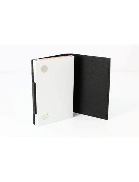 Porte carte Aluminium et cuir,Cascade Wallet, Ogon Designs, Imprimé Carbon