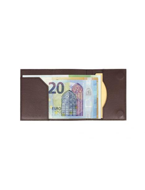 Porte carte Aluminium et cuir,Cascade Wallet, Ogon Designs, Imprimé Croco