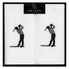 Pochette- Mouchoir brodé - Set de 2- Golfer
