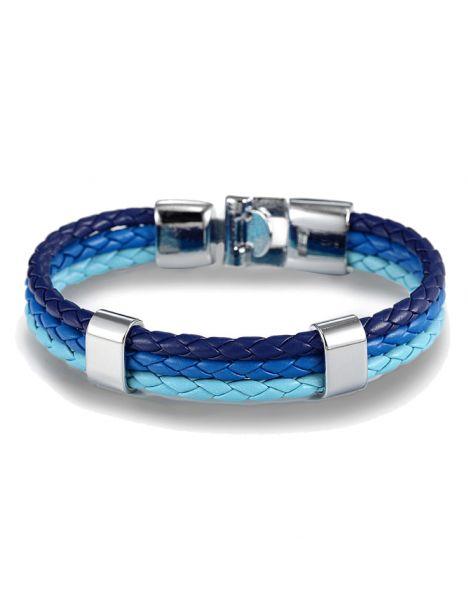 Bracelet tressé, trio, bleu Clj Charles Le Jeune Bracelets Homme