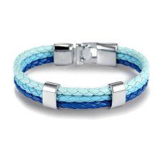 Bracelet tressé, trio, Lagon