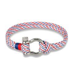 Bracelet fermoir manille lyre, tricolore