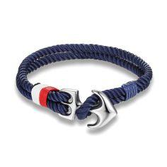 Bracelet ancre nautique, navy