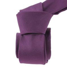 Cravate Slim, Birmingham, aubergine Clj Charles Le Jeune Cravates