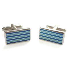 Boutons de manchette, Pinstripe, bleu