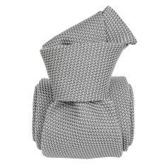 Cravate grenadine de soie, Segni & Disegni, Lucia Gris Argent Segni et Disegni Cravates