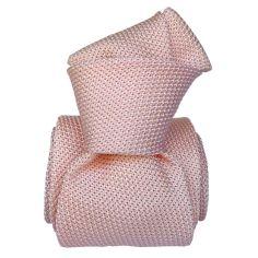 Cravate grenadine de soie, Segni & Disegni, Lucia rose