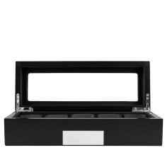 Ecrin Luxe bois 5 montres, Kennett, noir vitré Kennett Ecrins