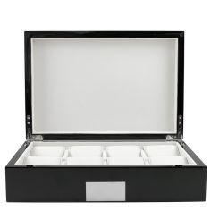 Ecrin Luxe bois 8 montres, Kennett, couleur noir laqué Kennett Ecrins
