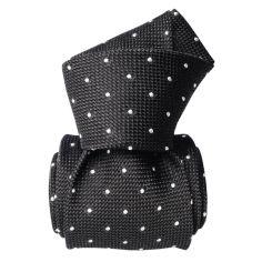 Cravate grenadine de soie, Segni & Disegni, Fjord Gris