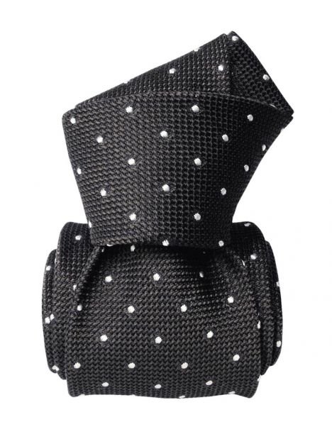 Cravate grenadine de soie, Segni & Disegni, Fjord Gris Segni et Disegni Cravates