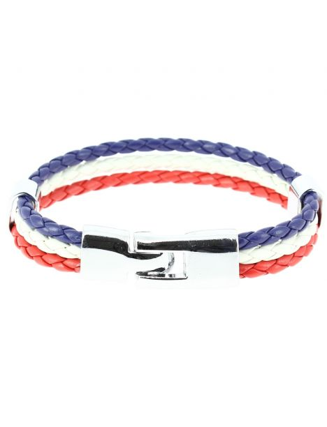 Bracelet tressé vive la France Clj Charles Le Jeune Bracelets Homme