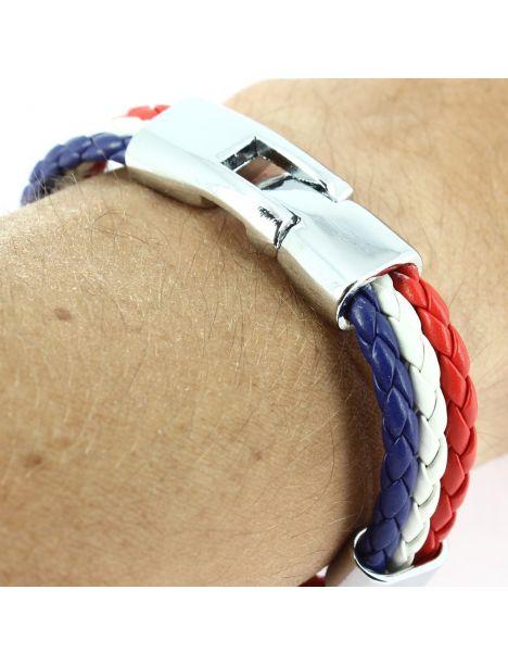 Bracelet tressé vive la France