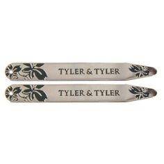 Bouton de manchette Tyler & Tyler, Vine collar Stiffener, BOXED