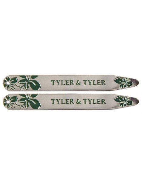 Baleines de col, Tyler & Tyler, Vine collar Stiffener, vert émaillé Tyler & Tyler Baleines de col