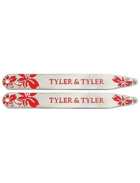 Baleines de col, Tyler & Tyler, Vine collar Stiffener, rouge émaillé Tyler & Tyler Baleines de col