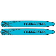Baleines de col, Tyler & Tyler, Bright Blue Enamel