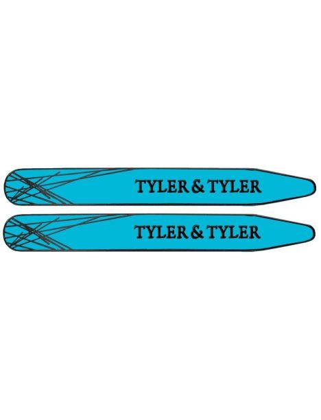 Baleines de col, Tyler & Tyler, Collar Stiffener, Bright Blue Enamel Tyler & Tyler Baleines de col
