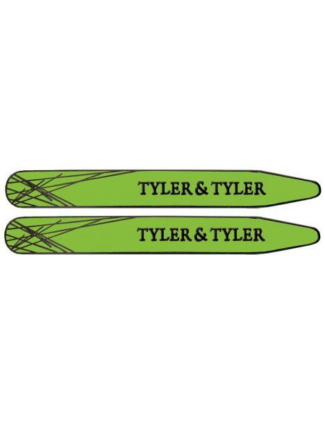 Baleines de col, Tyler & Tyler, Green Enamel Tyler & Tyler Baleines de col
