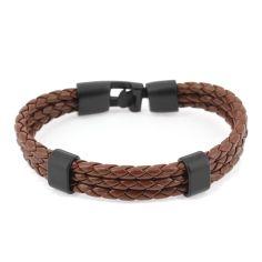 Bracelet tressé, trio, brun Clj Charles Le Jeune Bracelets Homme