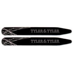 Baleines de col, Tyler & Tyler, Collar Stiffener, Silver Black Enamel Tyler & Tyler Baleines de col