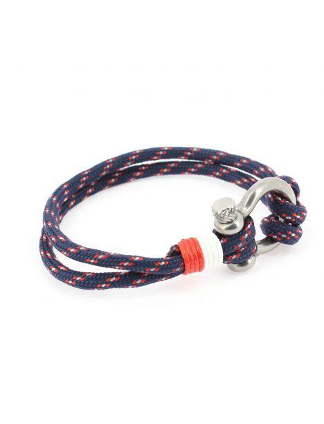 Bracelet fermoir manille lyre, navy
