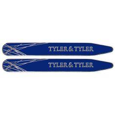 Baleines de col, Tyler & Tyler, Diffusion Collar Stiffener, Silver Navy Enamel Tyler & Tyler Baleines de col