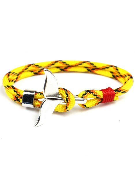 Bracelet nautique jaune, queue de baleine Clj Charles Le Jeune Bracelets Homme