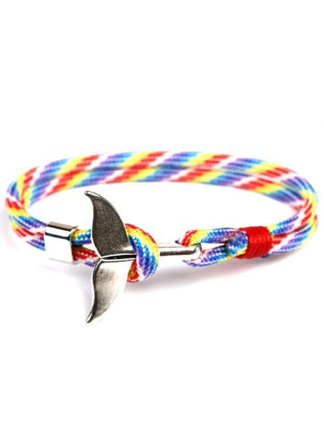 Bracelet nautique coloré, queue de baleine Clj Charles Le Jeune Bracelets Homme