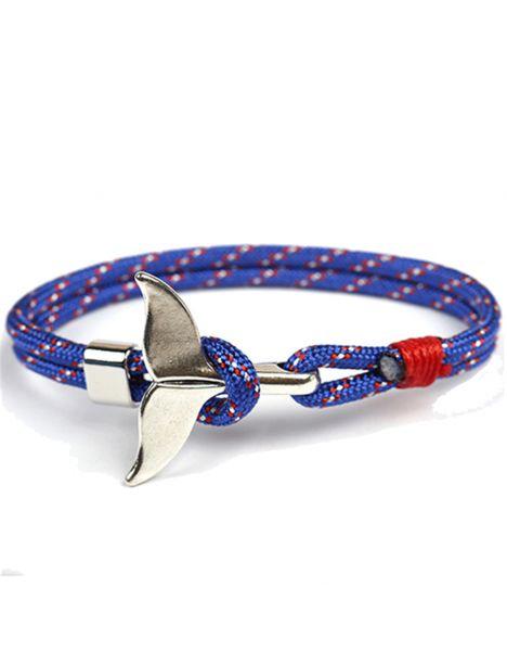 Bracelet nautique bleu king, queue de baleine Clj Charles Le Jeune Bracelets Homme