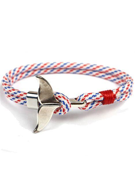 Bracelet nautique blanc mutli, queue de baleine Clj Charles Le Jeune Bracelets Homme