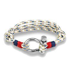 Bracelet Durcan, cordage nautique fermoir manille lyre