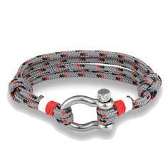 Bracelet Magellan, cordage nautique fermoir manille lyre